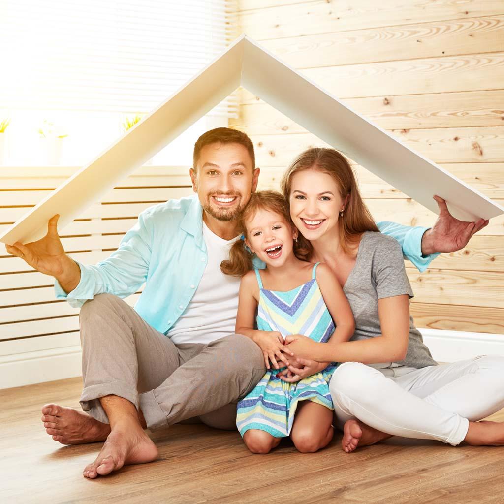 famiglia sotto tetto